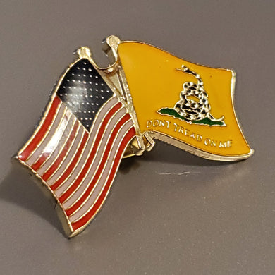 USA Gadsden Don't Tread On Me - Cloisonne Hat & Lapel Pin