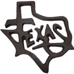 Texas cast iron wall sign
