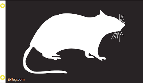 U R A Rat 3'X5' Flag Rough Tex® 100D