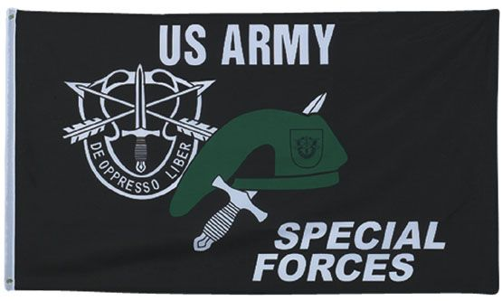 US Army Special Forces 3'X5' Flag Rough Tex® Super Polyester