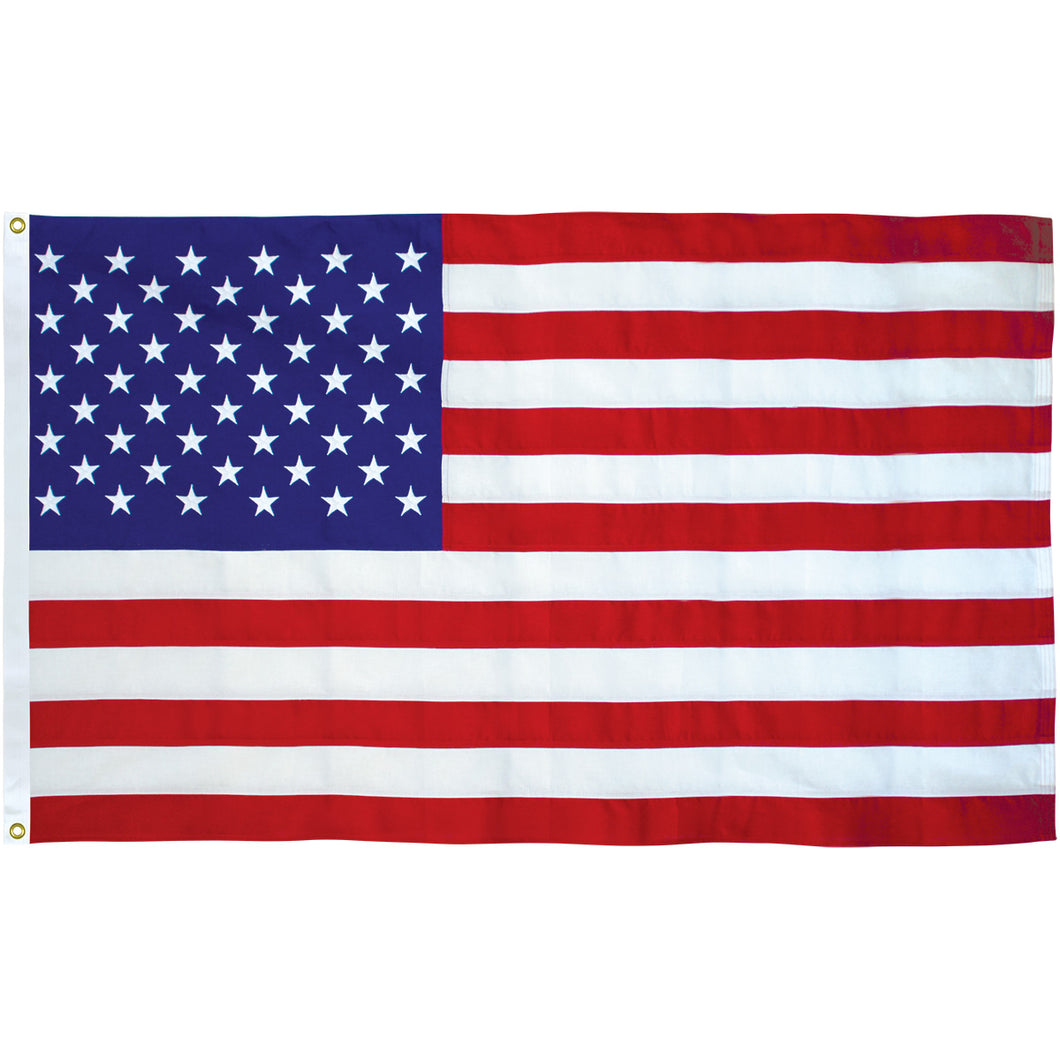 12 USA Flag 3x5ft Nylon Embroidered FLAGS BY THE DOZEN WHOLESALE PER DESIGN!