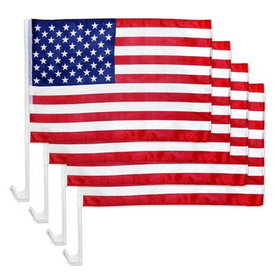 USA CAR FLAG ECONOMY SINGLE SIDED WOVEN POLY 12X18 WHOLESALE AMERICAN FLAGS