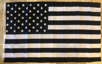 USA BLACK & WHITE MEMORIAL Rough Tex ® 100D Flags