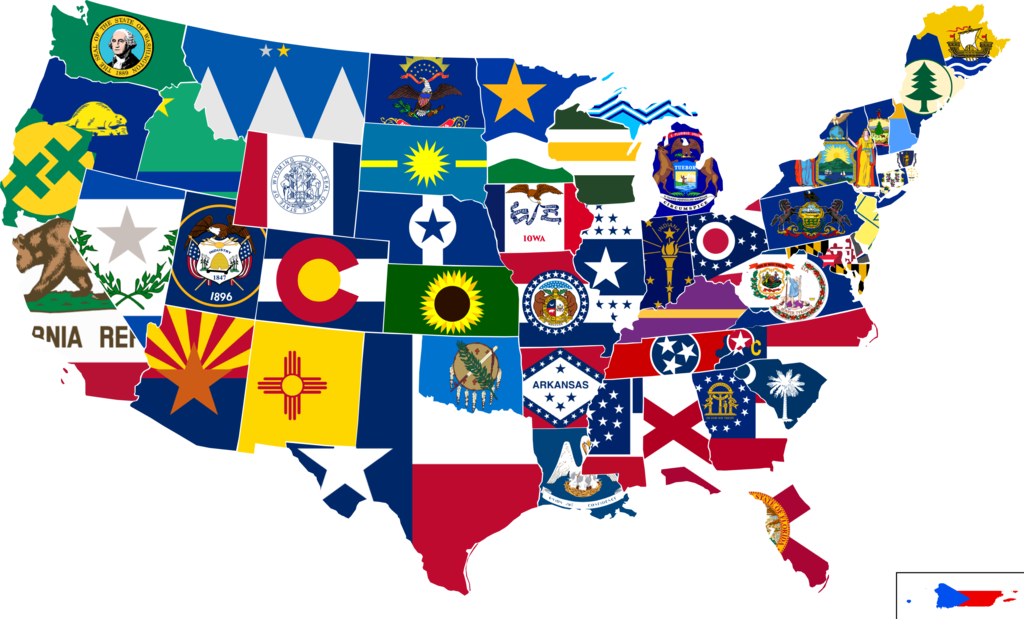 (144 PER STATE) 50 UNITED STATES FLAGS 4