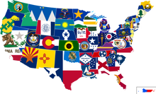 (72 PER STATE) 50 UNITED STATES FLAGS 3'x5' STATE FLAG COLLECTION 100D
