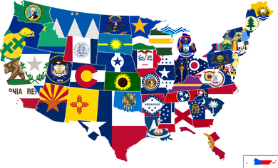 (144 PER STATE) 50 UNITED STATES FLAGS 12