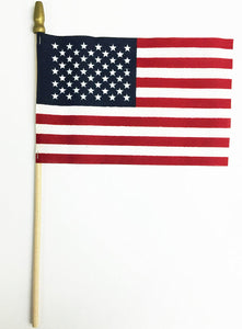 (12x18in) Set of 50 State Flags plus USA mounted on wooden staffs