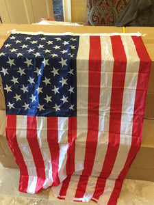 12 3X5 FEET USA FLAGS AMERICAN 68D with cotton ties