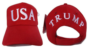 24 RED USA TRUMP 45 USA FLAG 100% COTTON TWILL OFFICIAL CAPS 45TH PRESIDENT HATS