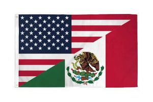 United States Mexico Flag USMEX 3'X5' Flag Rough Tex® 68D Nylon