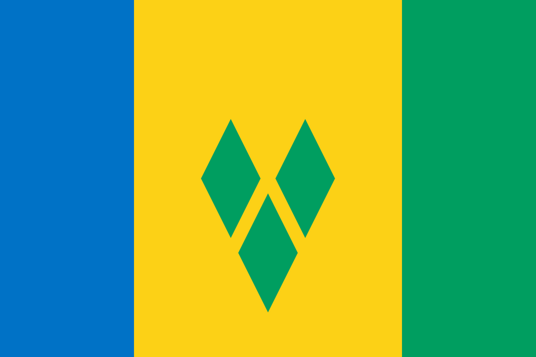 Saint Vincent And The Grenadines Flag 3x5ft Poly