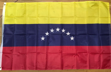 12 VENEZUELA 7 STAR 3'X5' FLAGS 1954-2006 100D FLAGS SOLD BY THE DOZEN