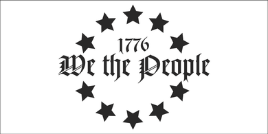 We The People 1776 White - Bumper Sticker