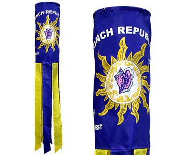CONCH REPUBLIC EMBROIDERED BLUE Flag Wind Sock