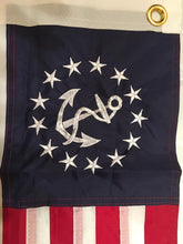 "USA YACHT ENSIGN 16""X24"" 300D NYLON EMBROIDERED & SEWN"