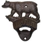 Cast Iron Yosemite Bear Bottle Opener Wall Mount