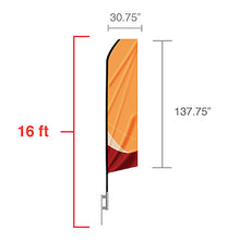 Standard Feather Flag 16ft.
