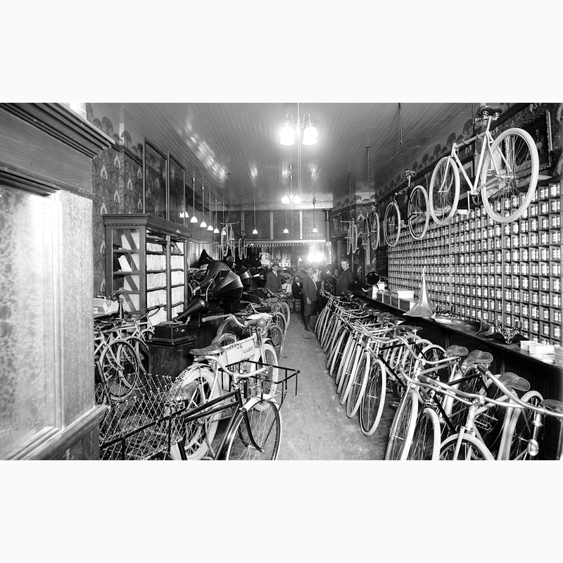 Bicycle Shop - Trendy Custom Wallpaper | Contemporary Wallpaper Designs | The Detroit Wallpaper Co.