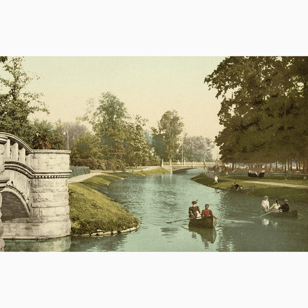Hand-Colored Belle Isle <br> Vintage Detroit - Trendy Custom Wallpaper | Contemporary Wallpaper Designs | The Detroit Wallpaper Co.