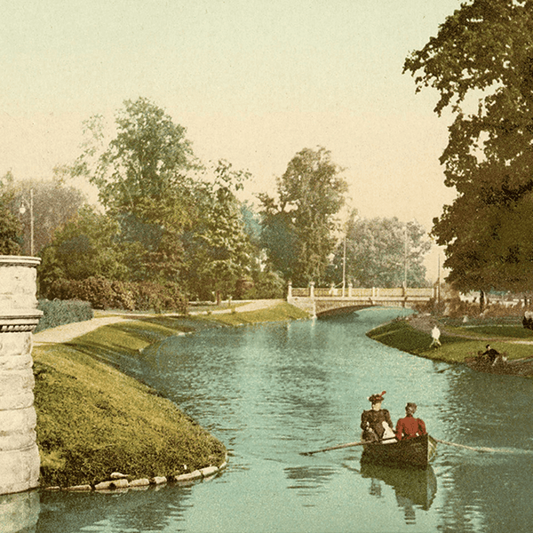 Hand-Colored Belle Isle <br> Vintage Detroit - The Detroit Wallpaper Co.