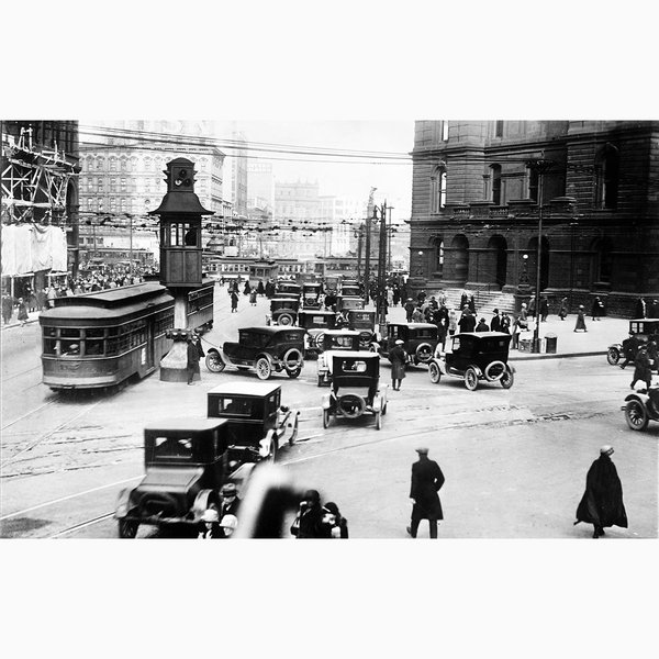 1915 Crowded Street <br> Vintage Detroit - The Detroit Wallpaper Co.