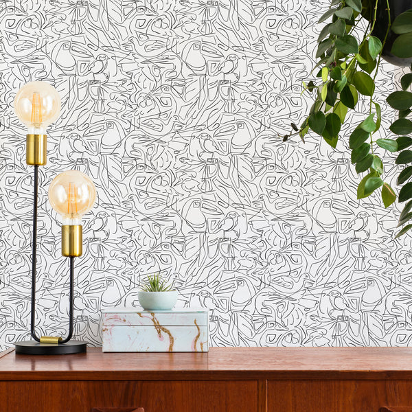 Aviary - Peel and Stick Wallpaper - Trendy Custom Wallpaper | Contemporary Wallpaper Designs | The Detroit Wallpaper Co.