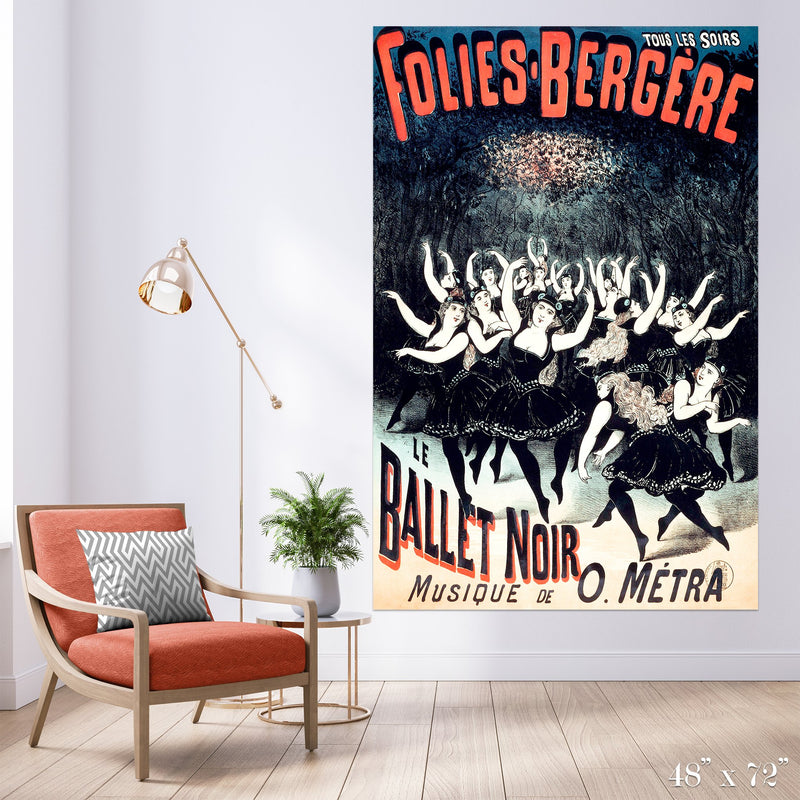 Ballet Noir Colossal Art Print - Trendy Custom Wallpaper | Contemporary Wallpaper Designs | The Detroit Wallpaper Co.