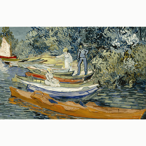 Bank of the Oise at Auvers, 1890 <br> Detroit Institute of Arts - The Detroit Wallpaper Co.