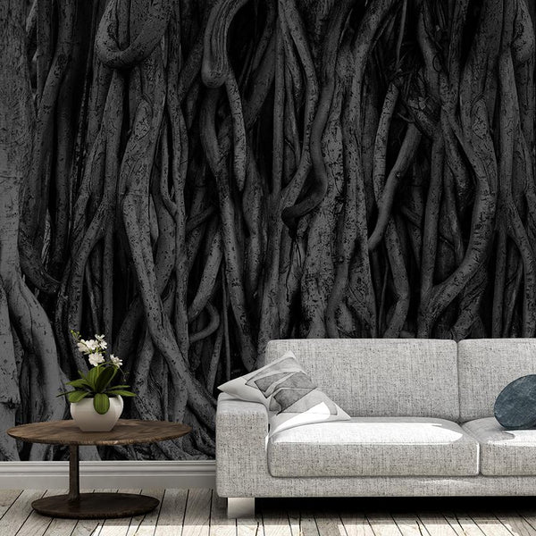 Temple Banyan Mural - Trendy Custom Wallpaper | Contemporary Wallpaper Designs | The Detroit Wallpaper Co.