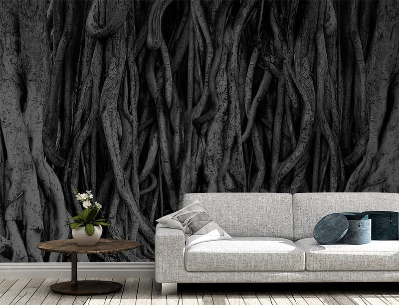 Temple Banyan Mural <br> Great Wall - Trendy Custom Wallpaper | Contemporary Wallpaper Designs | The Detroit Wallpaper Co.
