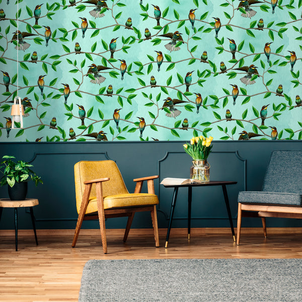 Bee Eater-1 - Trendy Custom Wallpaper | Contemporary Wallpaper Designs | The Detroit Wallpaper Co.