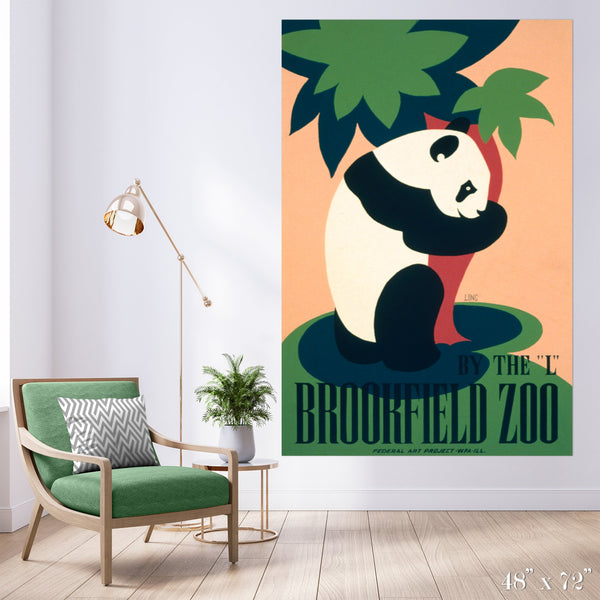 Brookfield Zoo Colossal Art Print - Trendy Custom Wallpaper | Contemporary Wallpaper Designs | The Detroit Wallpaper Co.