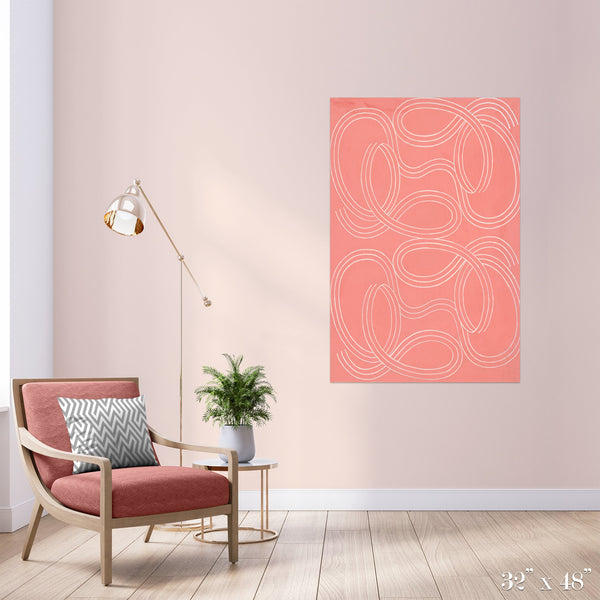 Candy Swirl Colossal Art Print - Trendy Custom Wallpaper | Contemporary Wallpaper Designs | The Detroit Wallpaper Co.