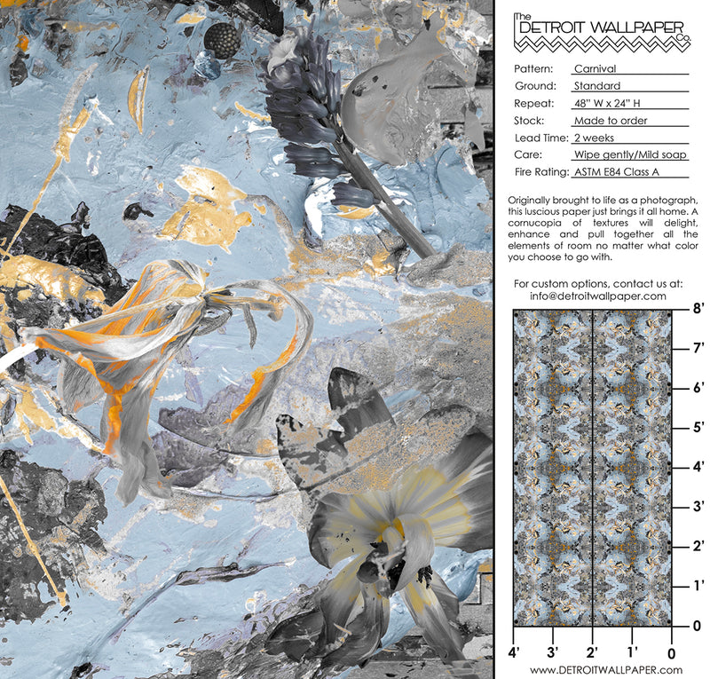 Carnival <br> Nanci & Allen Einstein - Trendy Custom Wallpaper | Contemporary Wallpaper Designs | The Detroit Wallpaper Co.