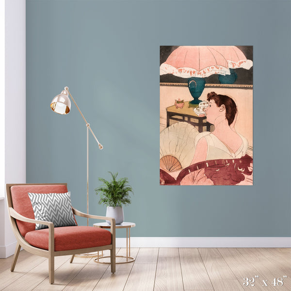 The Lamp Colossal Art Print - Trendy Custom Wallpaper | Contemporary Wallpaper Designs | The Detroit Wallpaper Co.