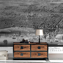 Chicago Mural - Trendy Custom Wallpaper | Contemporary Wallpaper Designs | The Detroit Wallpaper Co.