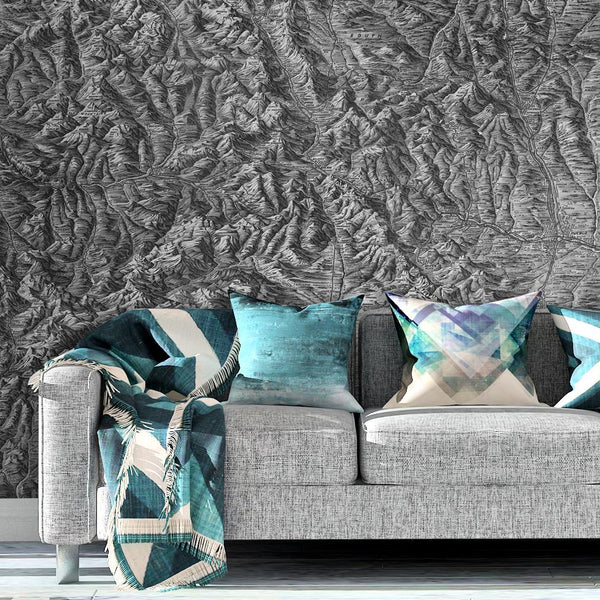Colorado Topography Mural <br> Great Wall - Trendy Custom Wallpaper | Contemporary Wallpaper Designs | The Detroit Wallpaper Co.