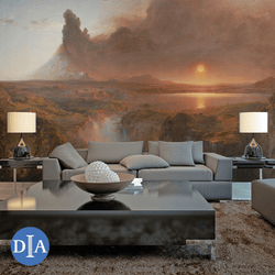 Cotopaxy, 1862 - Trendy Custom Wallpaper | Contemporary Wallpaper Designs | The Detroit Wallpaper Co.