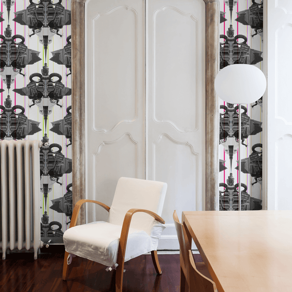 Damask Detroit - Cass - The Detroit Wallpaper Co.