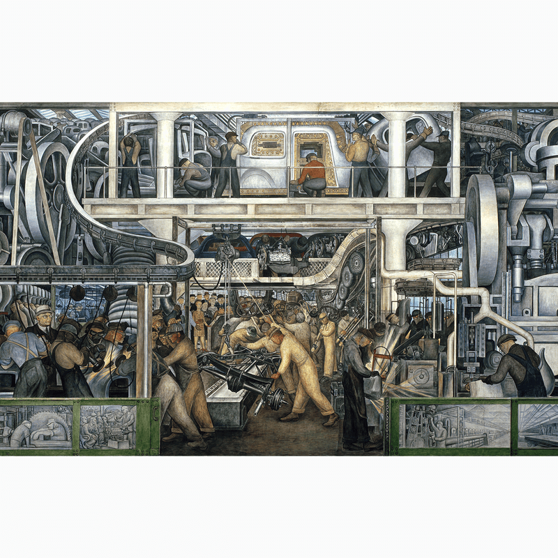 Detroit Industry, South Wall, 1933 <br> Detroit Institute of Arts - The Detroit Wallpaper Co.