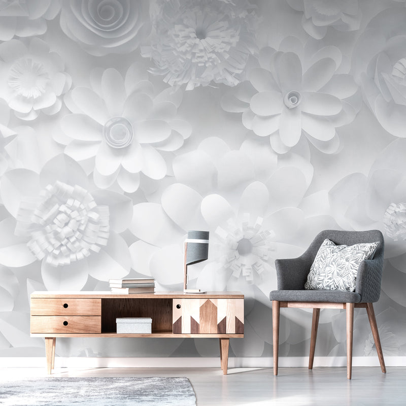 Fleurs de Papier Mural <br> Great Wall - Trendy Custom Wallpaper | Contemporary Wallpaper Designs | The Detroit Wallpaper Co.
