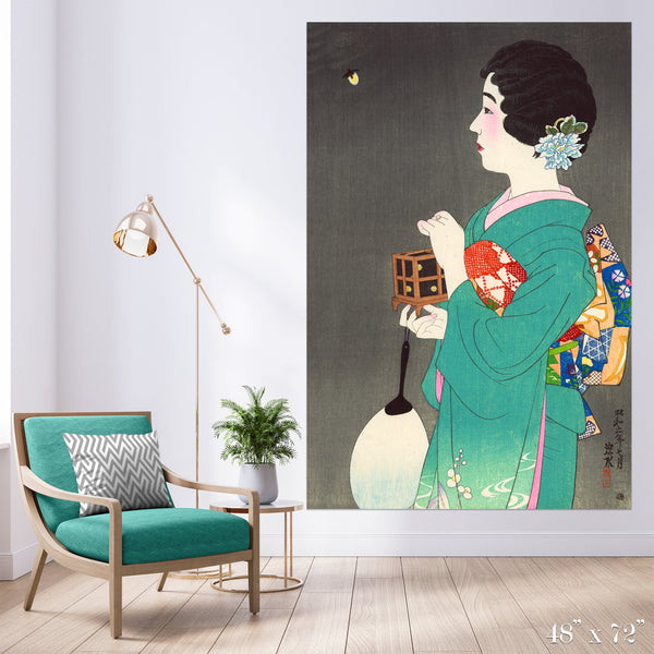 Firefly Colossal Art Print - Trendy Custom Wallpaper | Contemporary Wallpaper Designs | The Detroit Wallpaper Co.