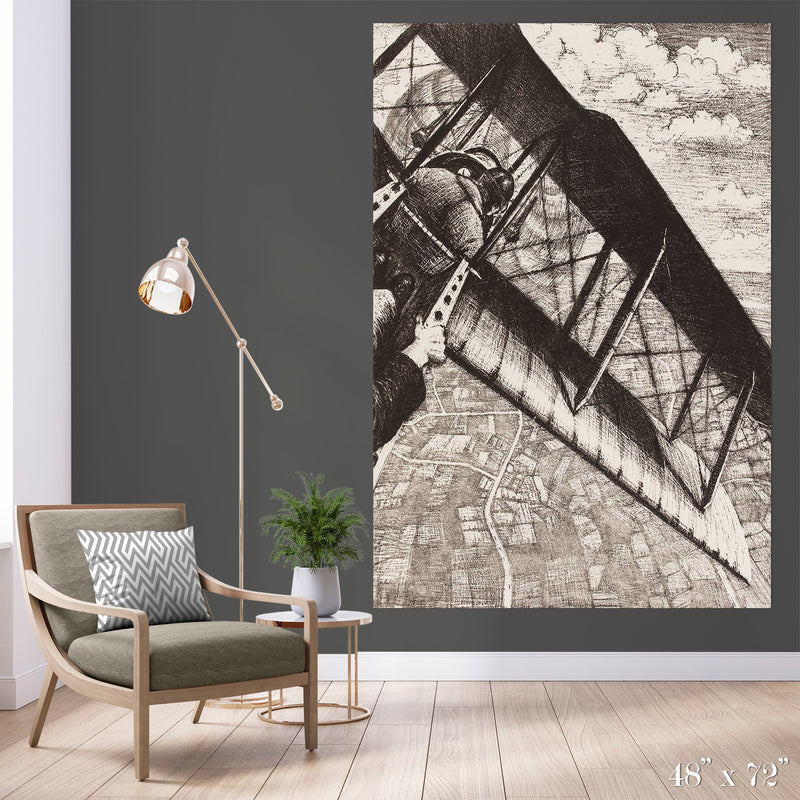 Flight Colossal Art Print - Trendy Custom Wallpaper | Contemporary Wallpaper Designs | The Detroit Wallpaper Co.