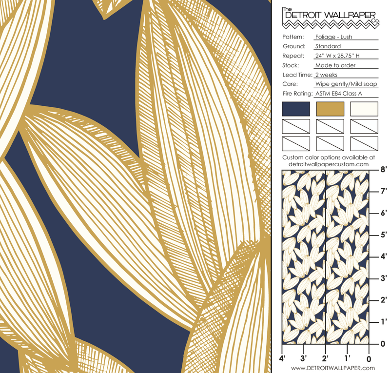 Foliage - Lush <br> Elizabeth Salonen - Trendy Custom Wallpaper | Contemporary Wallpaper Designs | The Detroit Wallpaper Co.