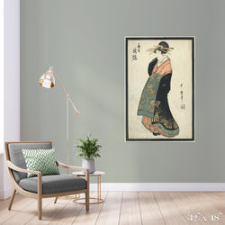 Geisha Colossal Art Print - Trendy Custom Wallpaper | Contemporary Wallpaper Designs | The Detroit Wallpaper Co.
