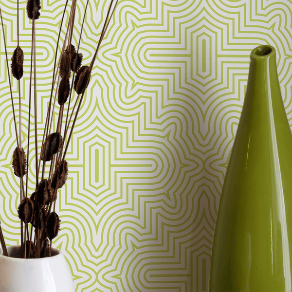 Goldrush - Lime - Trendy Custom Wallpaper | Contemporary Wallpaper Designs | The Detroit Wallpaper Co.