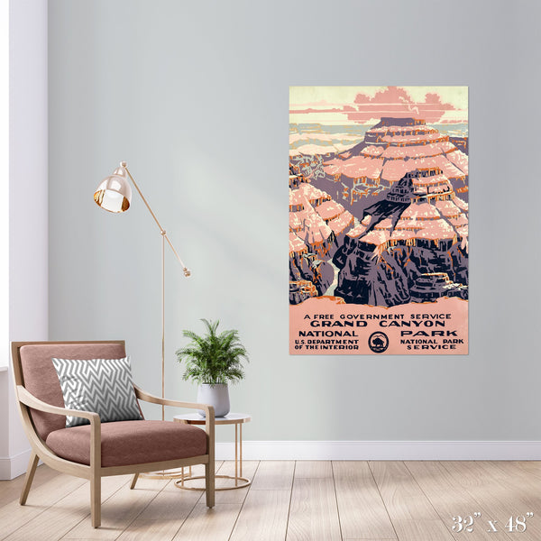 Grand Canyon National Park Colossal Art Print - Trendy Custom Wallpaper | Contemporary Wallpaper Designs | The Detroit Wallpaper Co.
