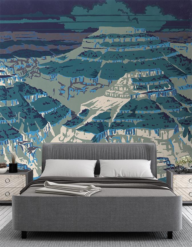 Grand Mural <br> Great Wall - Trendy Custom Wallpaper | Contemporary Wallpaper Designs | The Detroit Wallpaper Co.