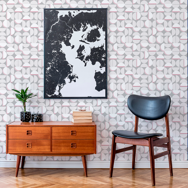 Half Moon - Equinox - Trendy Custom Wallpaper | Contemporary Wallpaper Designs | The Detroit Wallpaper Co.