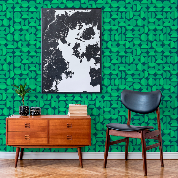 Half Moon - Waning - Trendy Custom Wallpaper | Contemporary Wallpaper Designs | The Detroit Wallpaper Co.